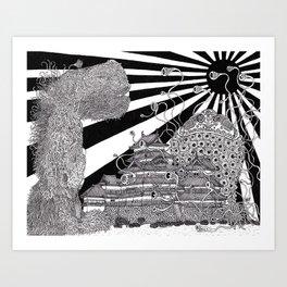 The Battle of Matsumoto Art Print