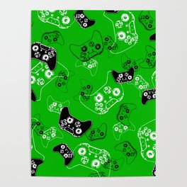 Video Game Green Poster