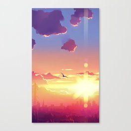 sunset.wings Canvas Print