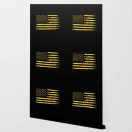 Gold grunge american flag Wallpaper