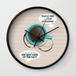 Funny Coffee Lover Print Wall Clock