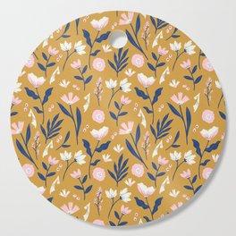 Mustard Floral Pattern Cutting Board