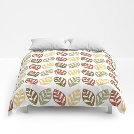 Retro Leaves Pattern Comforters