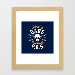 Bending Bars Breaking PRs Framed Art Print