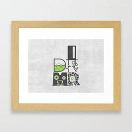DR MR Framed Art Print
