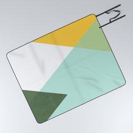 Geometrics - citrus & concrete Picnic Blanket