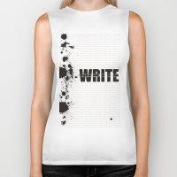 write Biker Tanks featuring Write by Valeri Kimbro