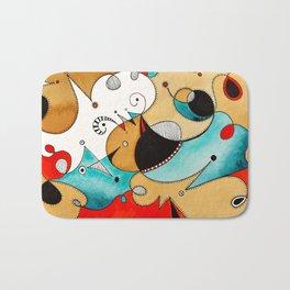 Abstract Tea Critters Bath Mat