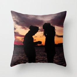 BEDOUIN SUNSET II Throw Pillow