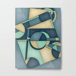 Mid Century Modern Abstract Composition Metal Print