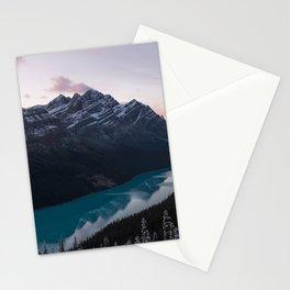 Peyto Lake at dusk Stationery Cards