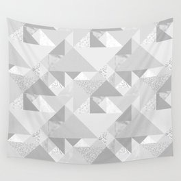 Modern abstract glacier gray white geometrical pattern Wall Tapestry