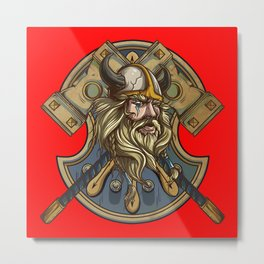 Viking Metal Print