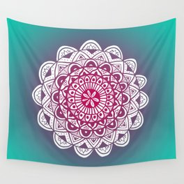 Jade and Purple Mandala Wall Tapestry
