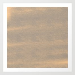 Chalky background - brown Art Print