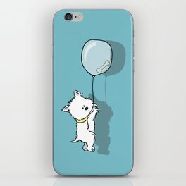 Hungry Westie Puppy iPhone Skin