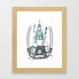 The High Priest Skeleton Tarot Framed Art Print