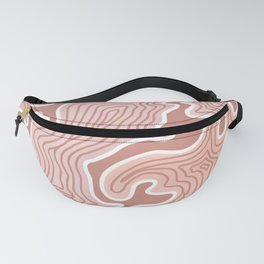Pastel Pink Abstract Fanny Pack