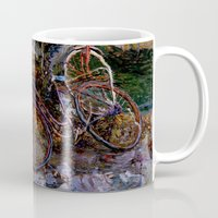 bicycles Mugs featuring Bicycles by Marco Sassone