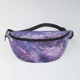 Violet drip abstraction Fanny Pack