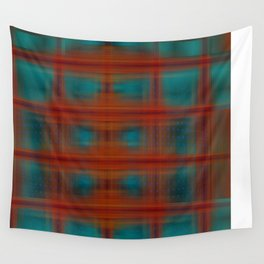 Night Swimming Plaid Wall Tapestry