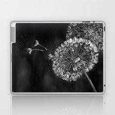 Dandelions, black & white Laptop & iPad Skin