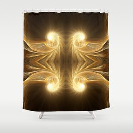 Golden Spiral Shower Curtain