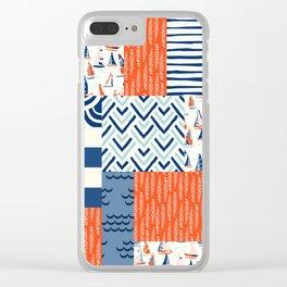 Beautiful Patch 9 (Nautical) Clear iPhone Case