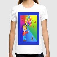 clown T-shirts featuring Clown by Art-Motiva