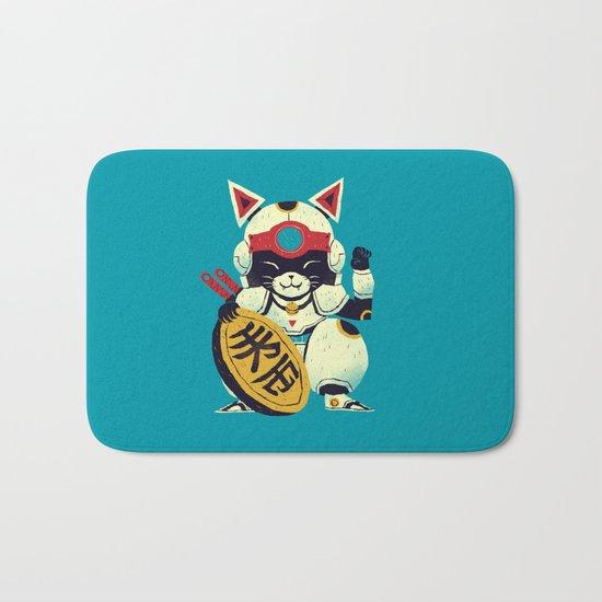 fortune pizza cat Bath Mat