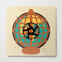 World imprisoned in the chaos of himself Metal Print