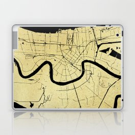 New Orleans Black and Gold Map Laptop & iPad Skin