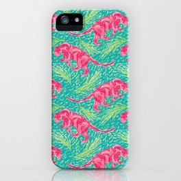 Pink Panther Jungle Scape iPhone Case