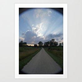 Walking Towards Light Art Print