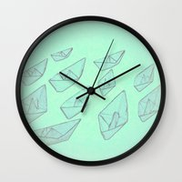 boats Wall Clocks featuring 'Boats' by Mr & Mrs Quirynen