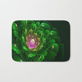 3D Green Flower Bath Mat