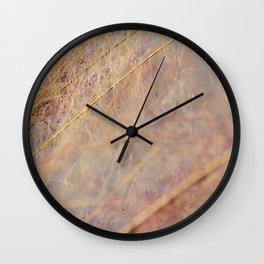 Cotton candy pink grass Wall Clock