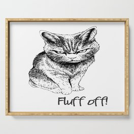 Fluff Off Angry Cat Serving Tray