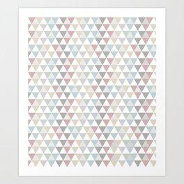 Geometric Pattern Wanderlust Pastel Art Print
