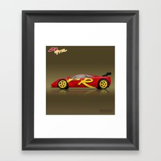 1996 McLaren F1 GTR #10R - Presentation Framed Art Print