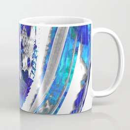 Blue and White Abstract Art - Flowing 2 - Sharon Cummings Coffee Mug