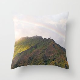 Rainbow Over Stairway to Heaven  Throw Pillow