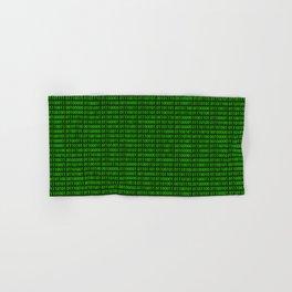 Binary numbers pattern in green Hand & Bath Towel