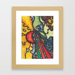 into the future  Framed Art Print