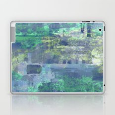 Icy - Abstract in Blue And White Laptop & iPad Skin