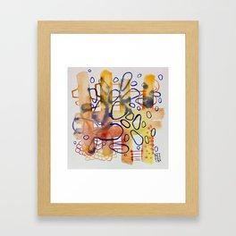Tangled Up Blues Framed Art Print