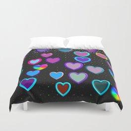 Confetti Hearts Duvet Cover