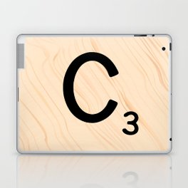 Scrabble Tile C - Large Scrabble Letters Laptop & iPad Skin