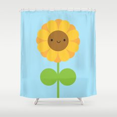 Kawaii Sunflower Shower Curtain