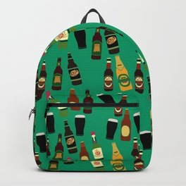 Alcohol Print of Beer, Cider and Gin Bottles Backpack